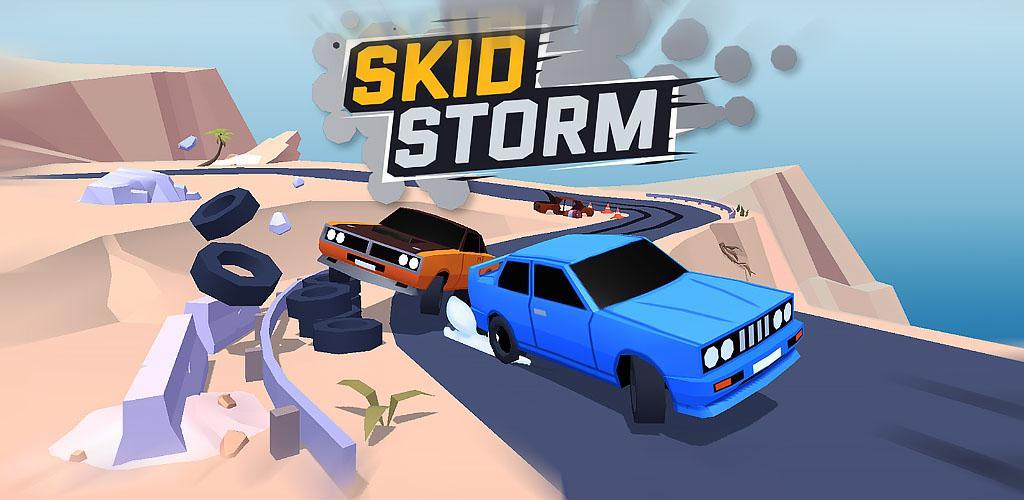 SkidStorm Cover - دانلود SkidStorm 1.0.102 - بازی مسابقات طوفانی ماشین ها اندروید